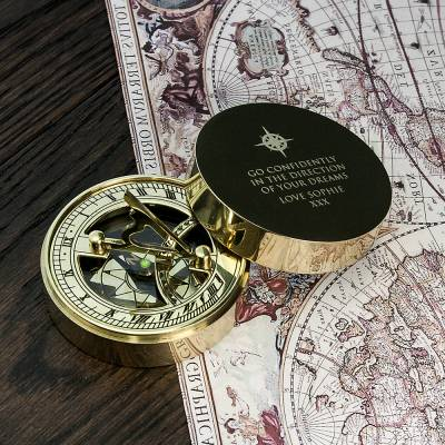 Personalised Sundial Compass