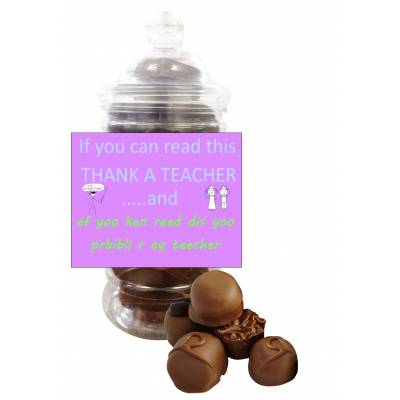 Thank A Teacher Belgian Chocolate Jar