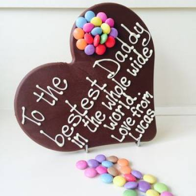 Personalised To My Daddy Chocolate Heart