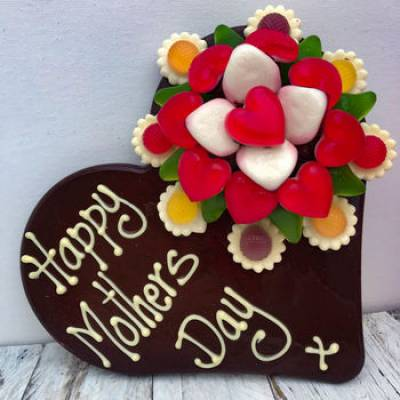 Mothers Day Chocolate Bouquet Heart