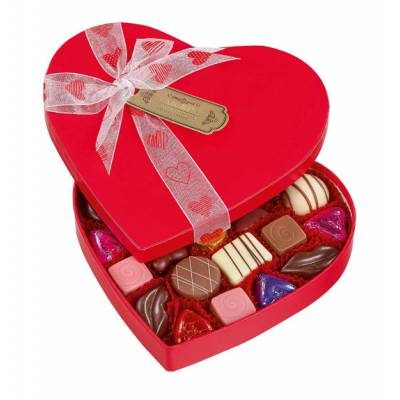 Red Heart Romantic Luxury Belgian Chocolates