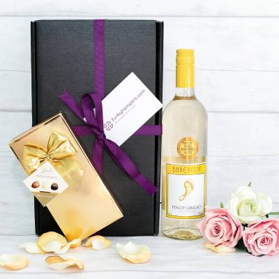 White Wine and Belgian Chocolates Gift