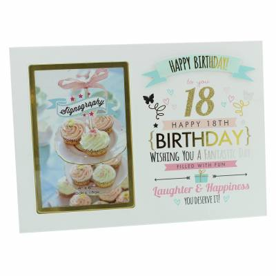 Happy 18th Birthday Photo Frame - 18th Birthday Gifts