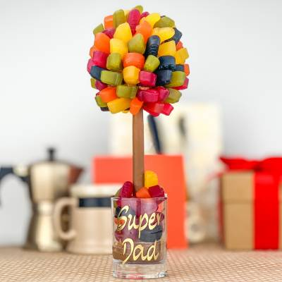 Personalised Wine Gum Funky Sweet Tree 25cm
