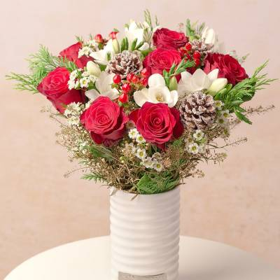 Christmas Roses and Freesias