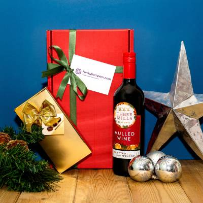 Christmas Mulled Wine and Belgian Chocolates Hamper