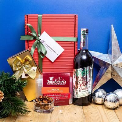 Non Alcoholic Christmas Punch, Belgian Chocolates and Gourmet Popcorn