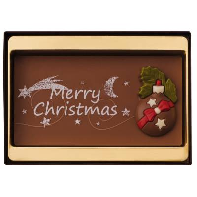 Merry Christmas Chocolate Slab and Figures