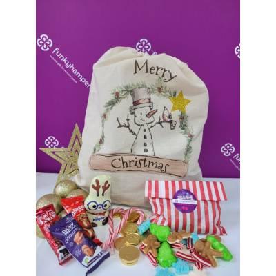 Merry Christmas Sweets and Chocolate Sack