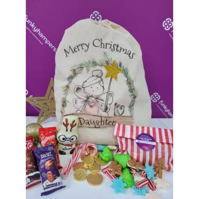 Merry Christmas Daughter Sweets and Chocolate Sack