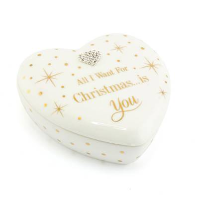 All I Want For Christmas Trinket Box