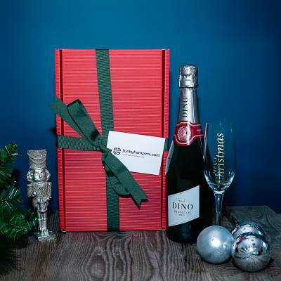 Christmas Prosecco and Flute Hamper