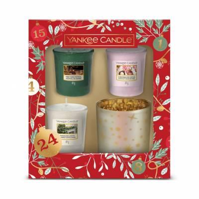 Yankee Candle 3 Votive 1 holder Christmas Gift Set