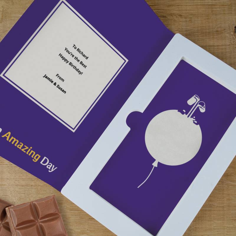 Personalised Happy Birthday Cadbury Chocolate Card