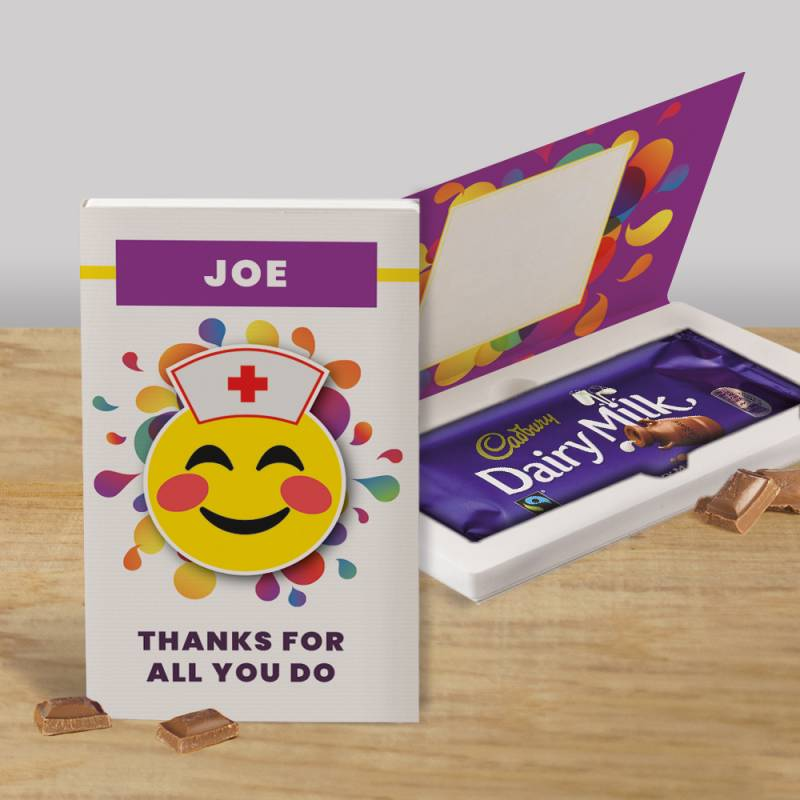 Personalised Thanks For All You Do Cadbury Chocolate Card