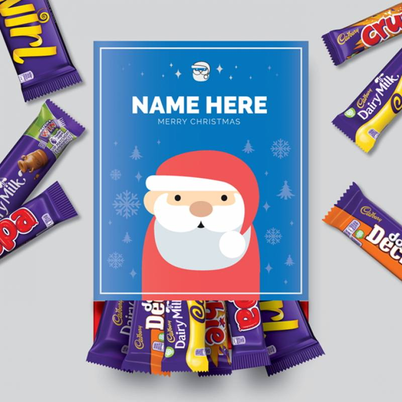 Personalised Santa Cadbury Favourites Box