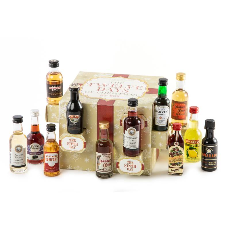12 Days Of Christmas Alcohol Miniatures Gift