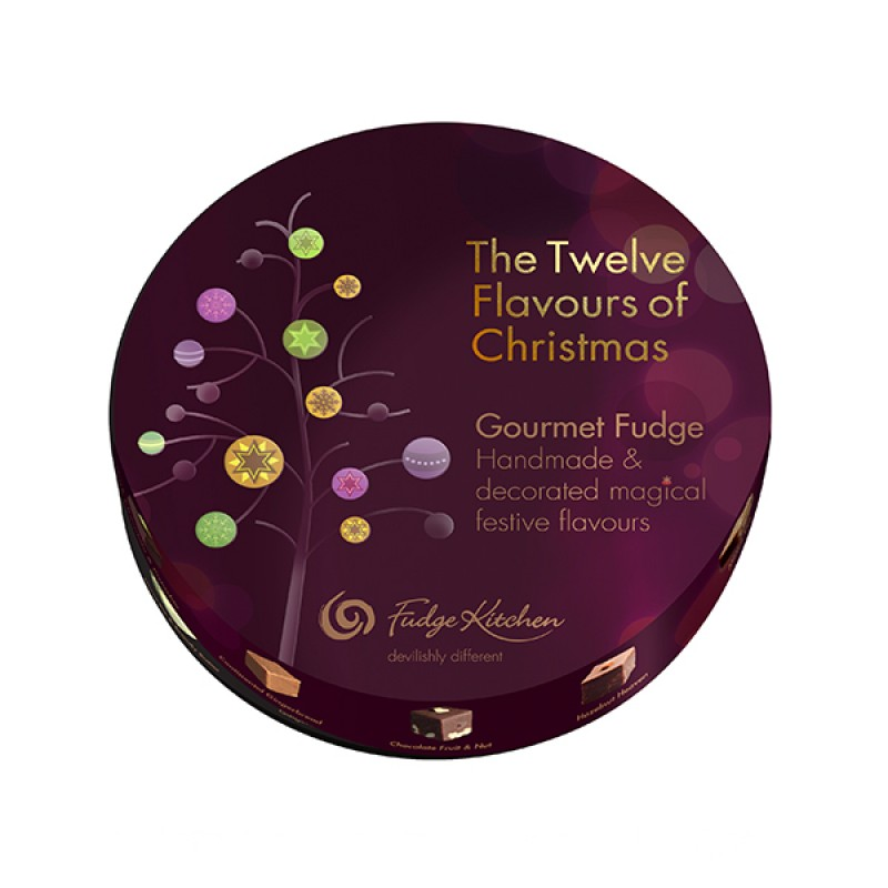 12 Flavours Of Christmas Gourmet Fudge