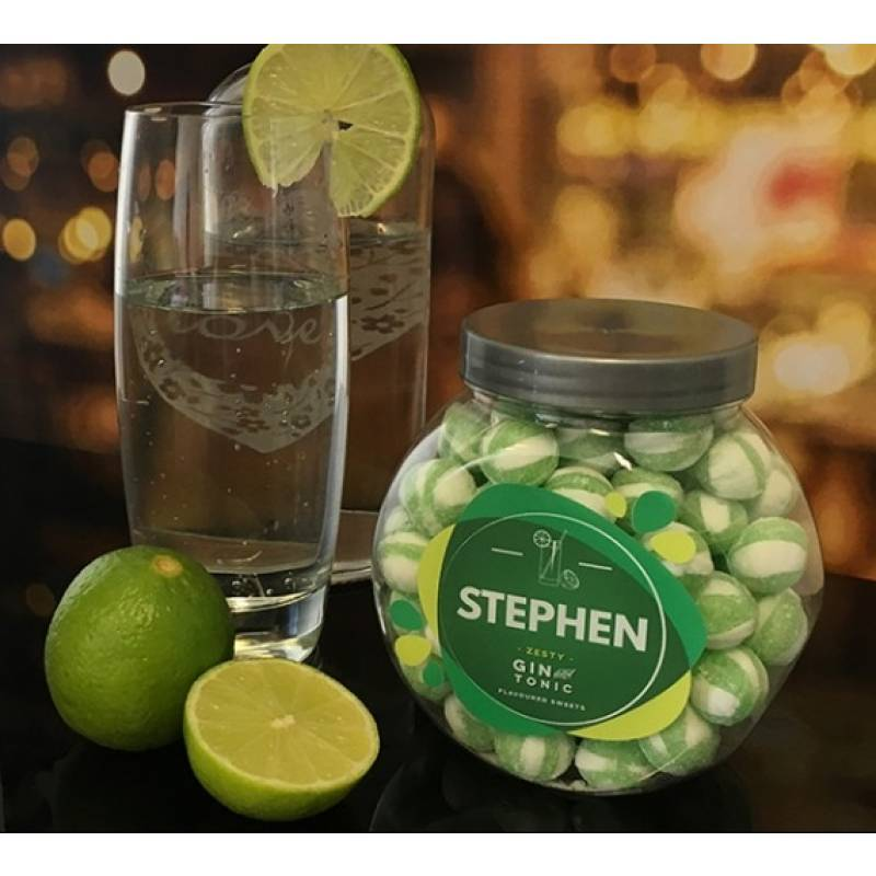 Personalised Gin and Tonic Sweet Jar