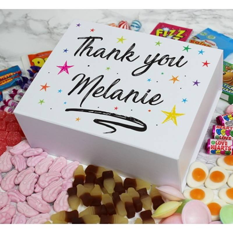 Personalised Thank You Sweet Box