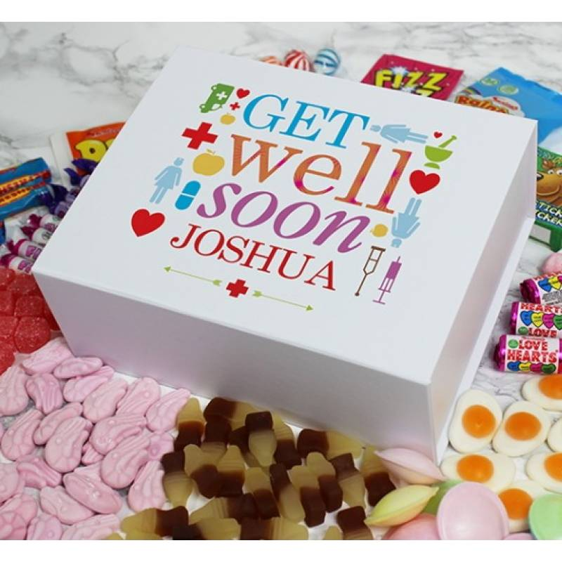 Get Well Soon Personalised Sweet Box