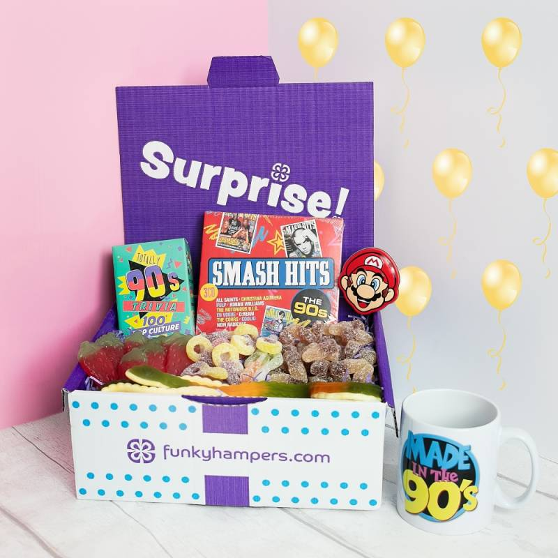 Gifts for him funky hampers 90s kid gift box negle Choice Image