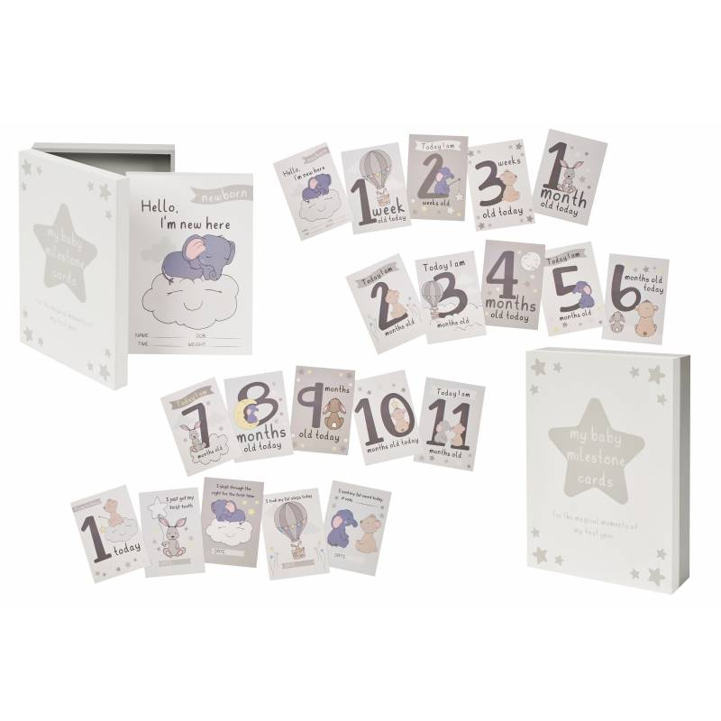 Baby Milestone Cards and Keepsake Box