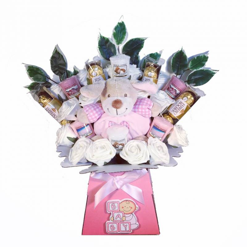 New Baby Girl Yankee Candle Bouquet