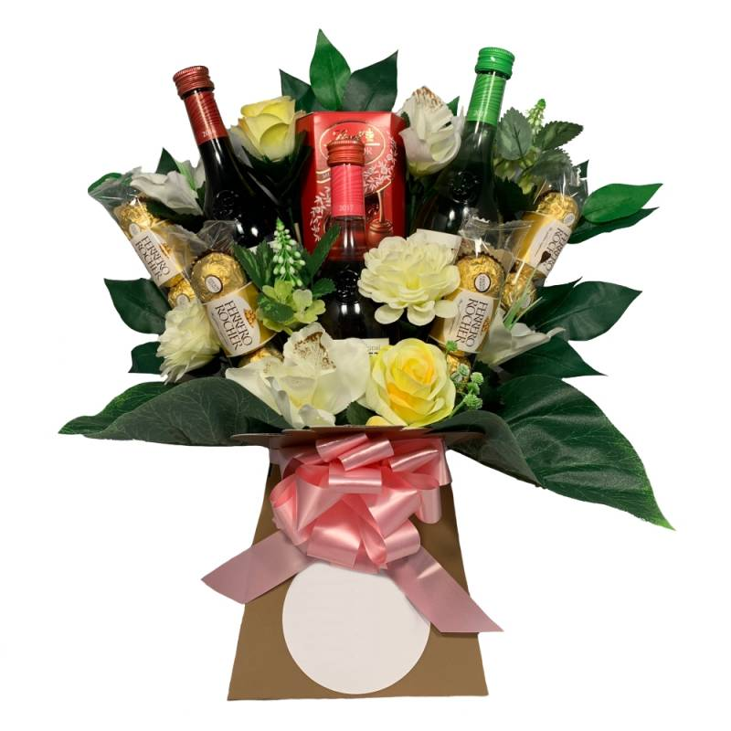 JP Chenet Wine and Flowers Chocolate Bouquet | Funky Hampers