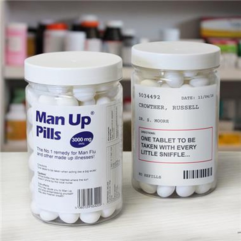 Personalised Man Up Sweet Pills