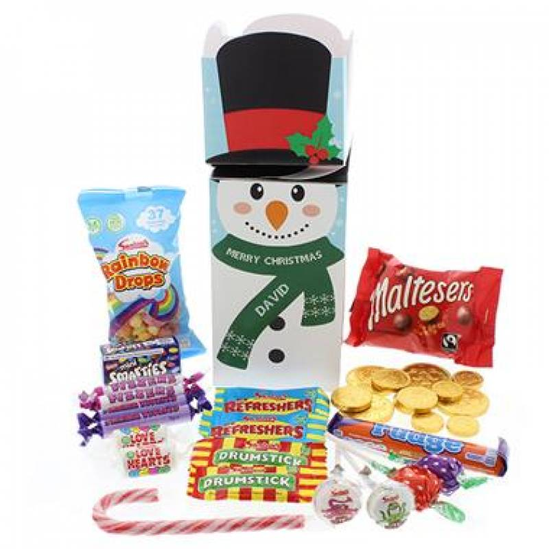 Personalised Snowman Sweet Box