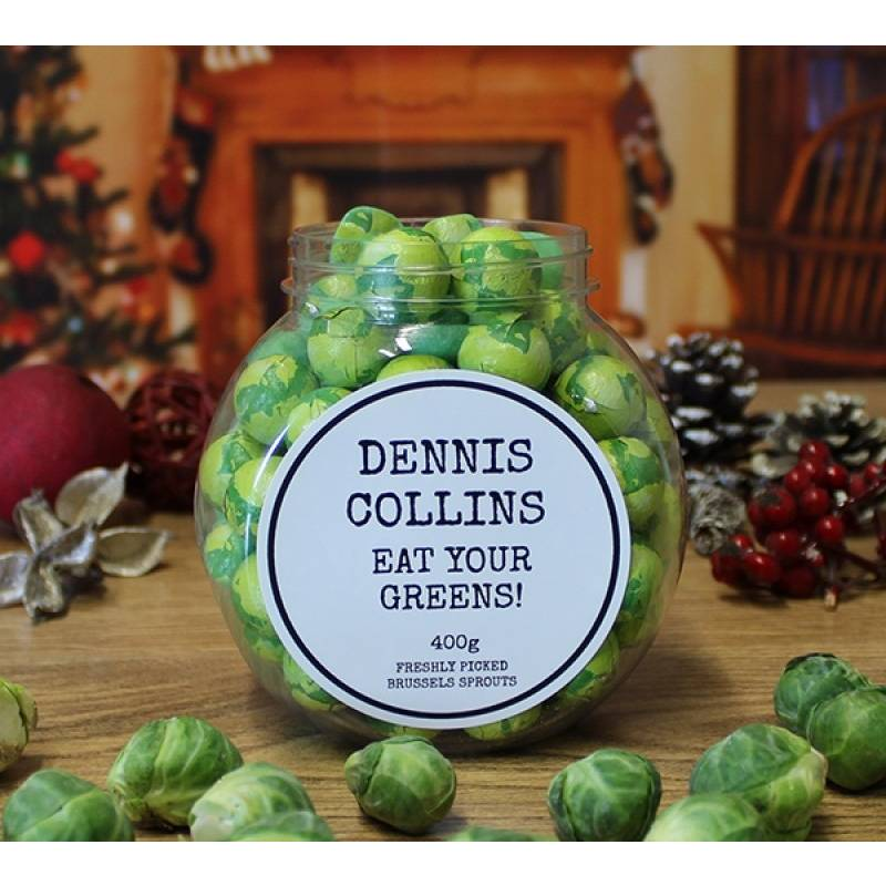 Personalised Chocolate Sprouts Jar