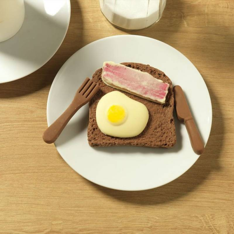 Chocolate Bacon and Egg on Toast