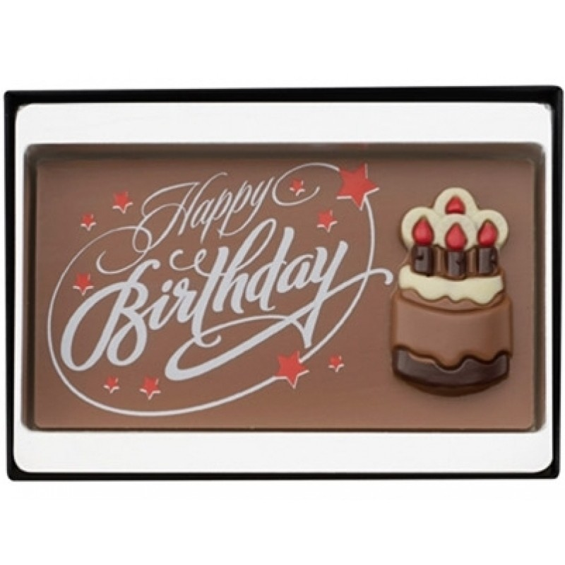 Happy Birthday Chocolate Slab