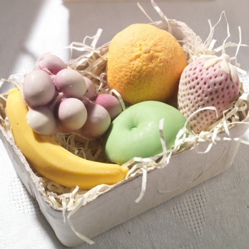 Basket of Chocolate Fruit
