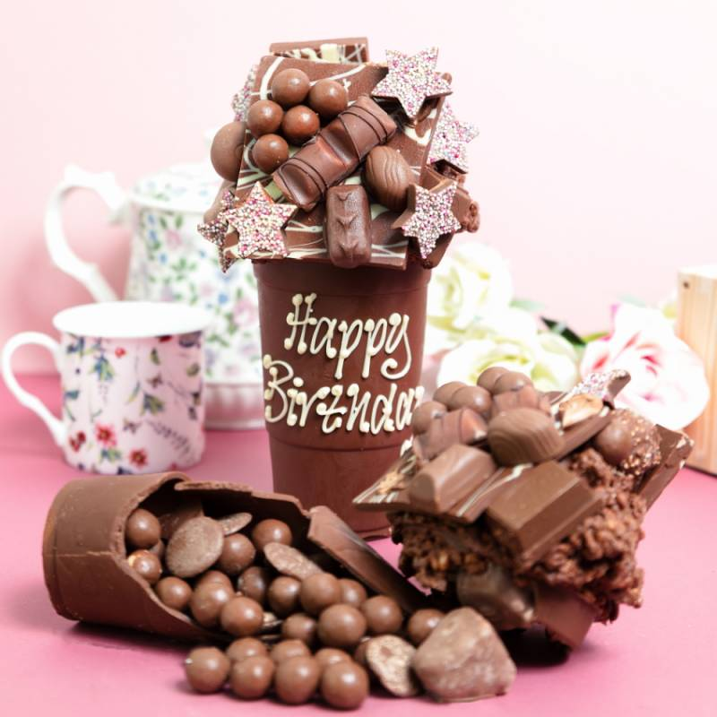 Personalised 1KG Belgian Chocolate Smash Cup