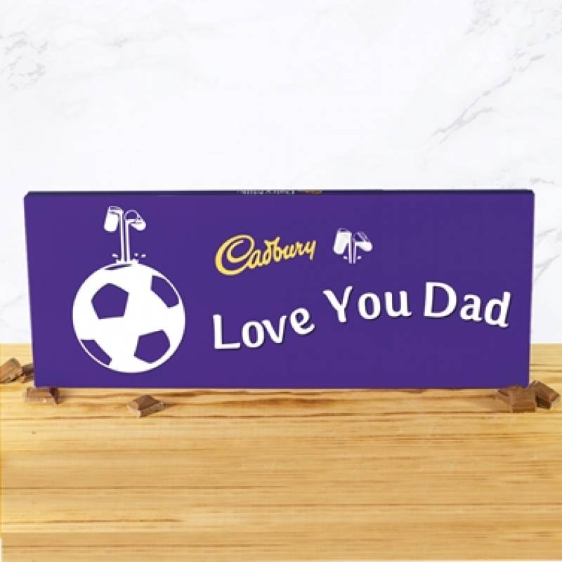Personalised Giant 850g Cadbury Dairy Milk Football Bar