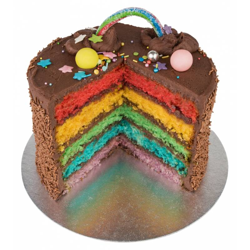 Chocolate Rainbow Layer Cake