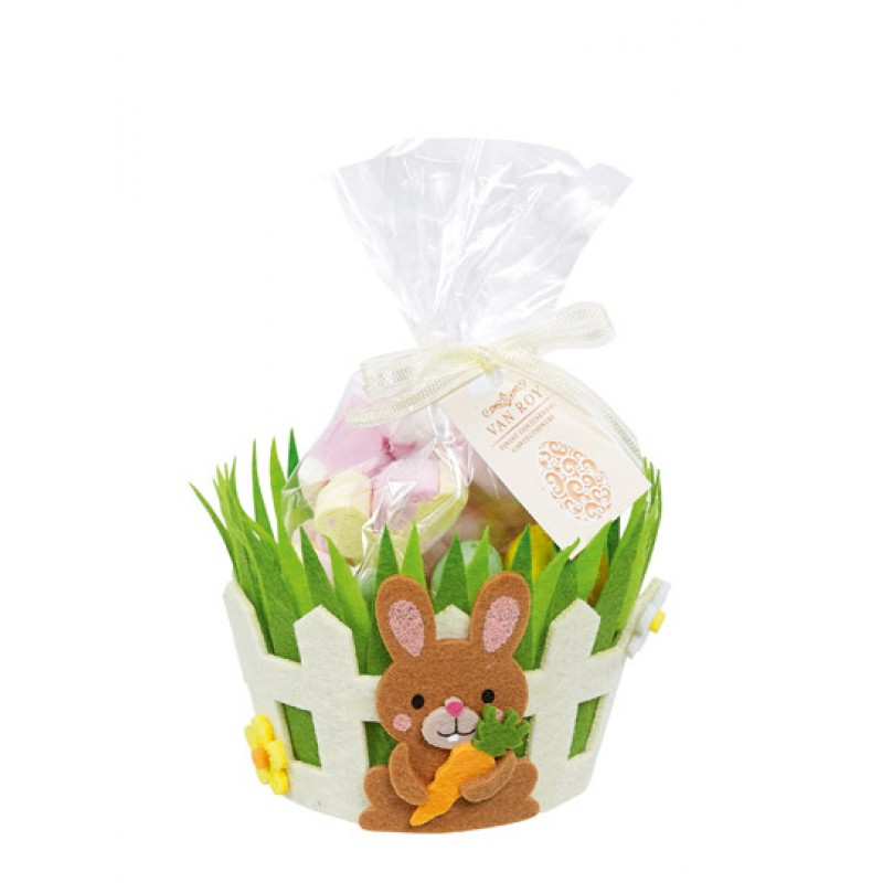 Easter Choc Eggs and Mallow Basket