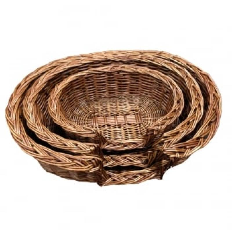 "Large Wicker ""Oscar"" Dog Bed"