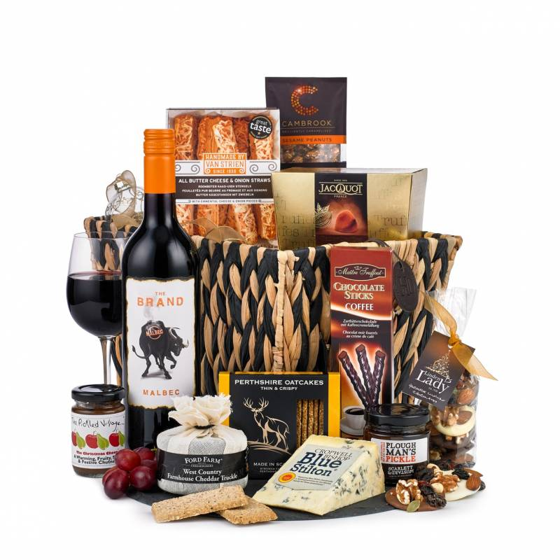 Cheese, Red Wine and Snacks Hamper