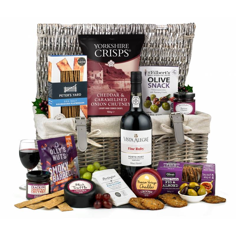 The Festive Port and Cheese Hamper