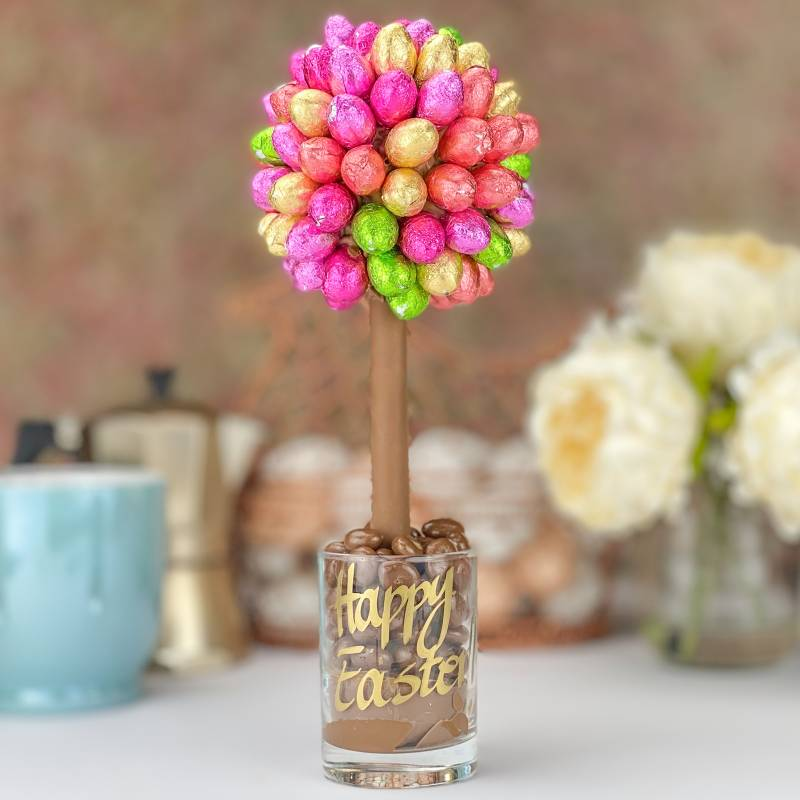 Foiled Mini Eggs Chocolate Tree