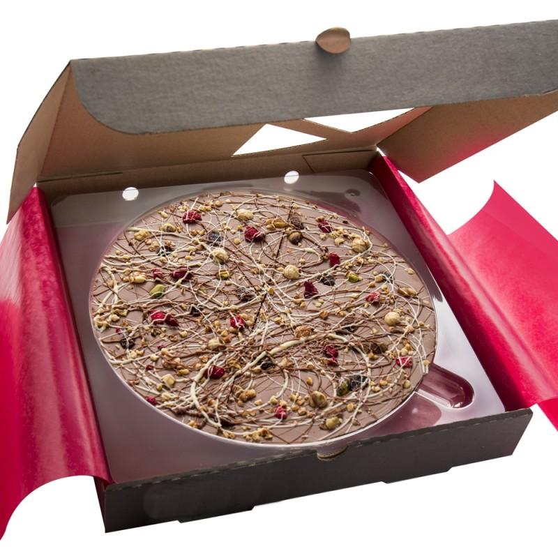 Crazy Crunchy Fruit n Nut 10 inch Chocolate Pizza