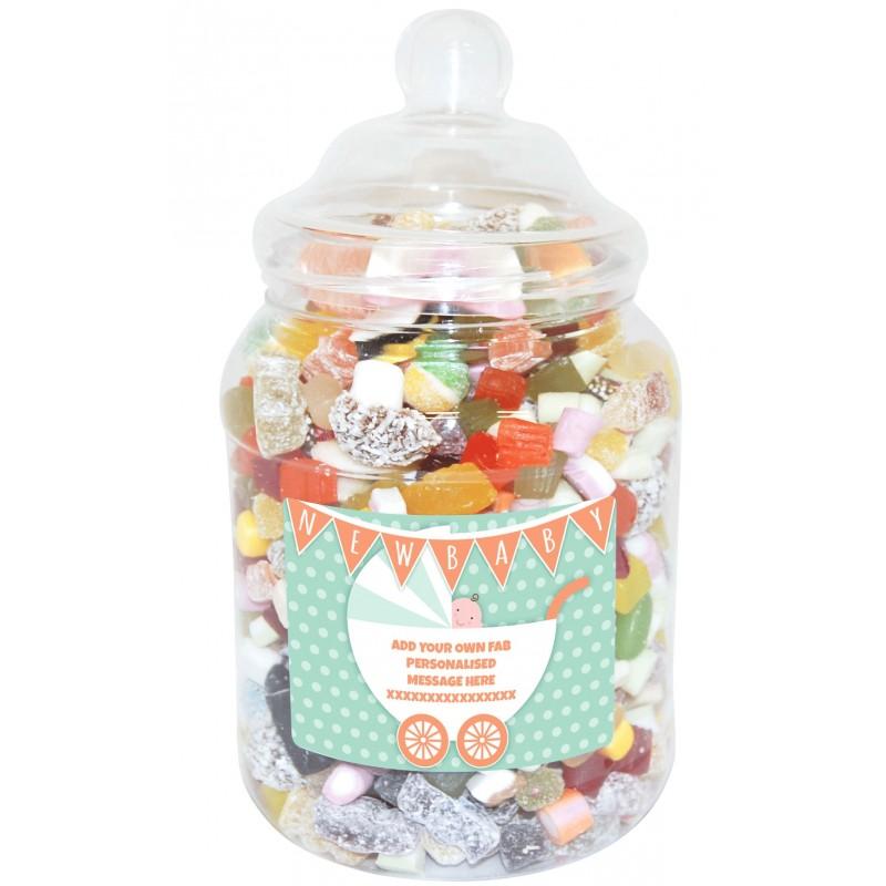 Baby Gift Jars : Personalised baby large sweet jar funky hampers
