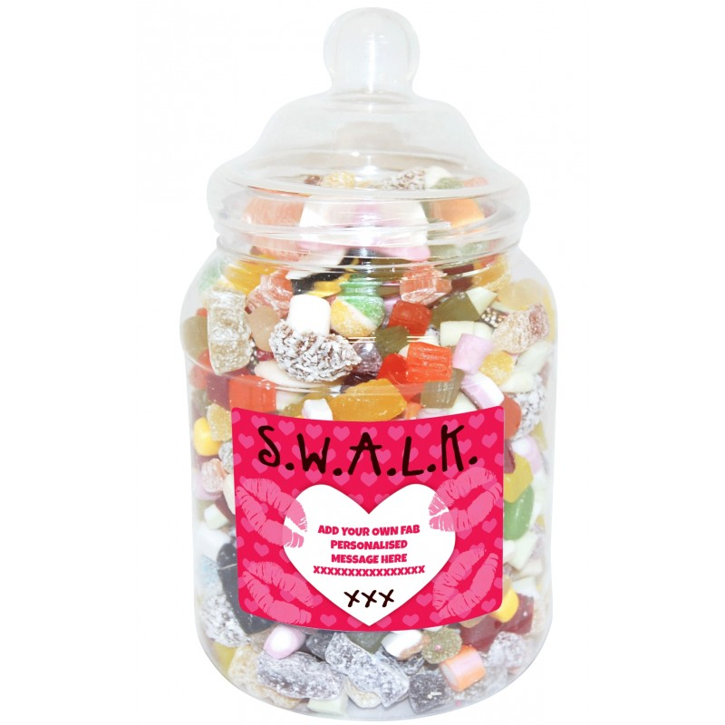 Personalised SWALK Large Sweet Jar