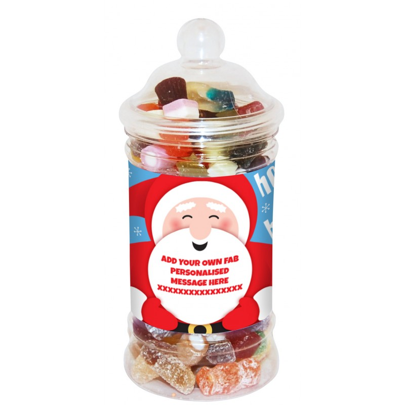 Personalised Santa Small Sweet Jar