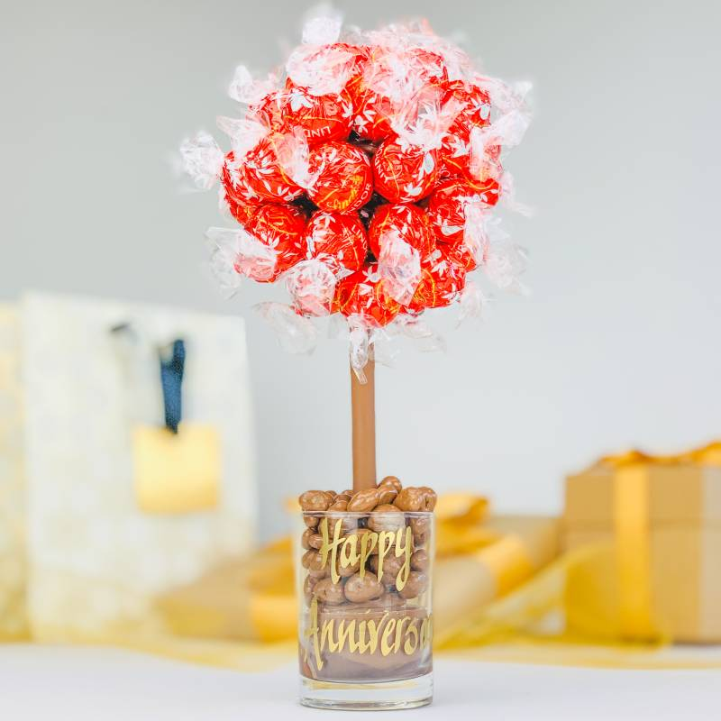 Personalised Lindor Lindt Funky Sweet Tree 25cm