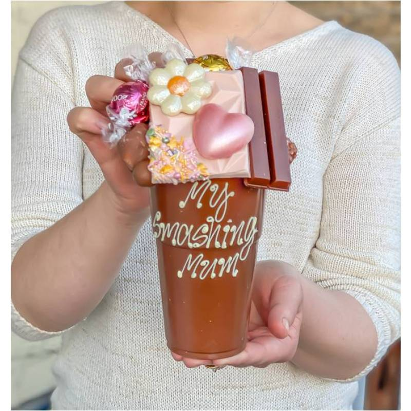 Floral 1KG Belgian Chocolate Smash Cup