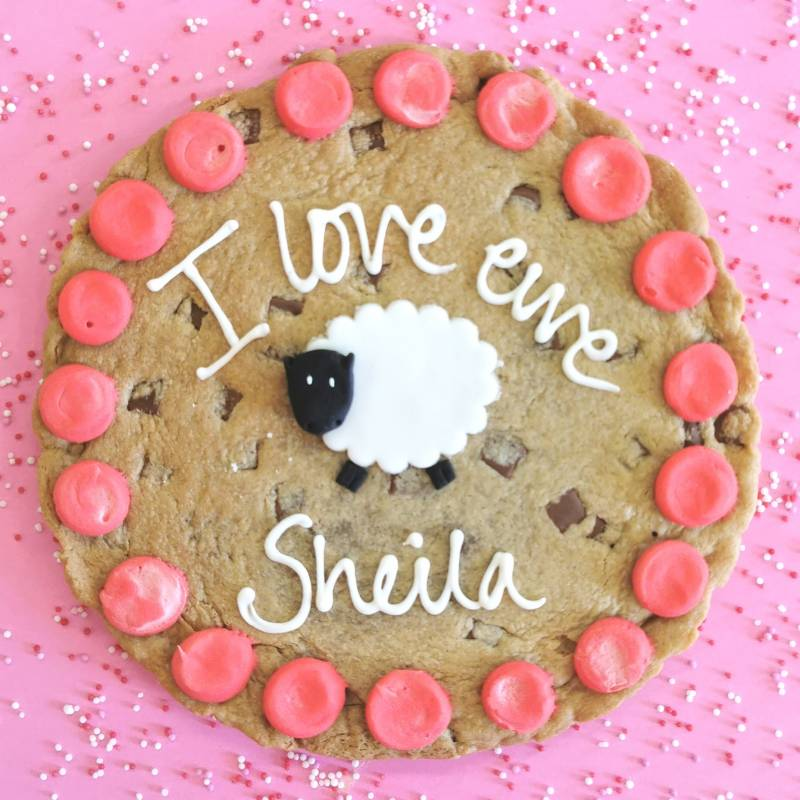 I Love Ewe Personalised Giant Chocolate Cookie